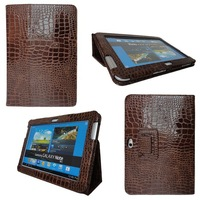Fashion Crocodile Cover Case For Samsung Galaxy Note 10.1 N8000 N8010 Hot Selling PU Leather Skin Case For Tablet 10 1