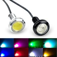 Free Shipping 9W 550LM 6500K 1-LED Car / MotorcycleEagle Eye Backup / Daytime Running Light Lamp -1PCS (DC 12V / 23mm)