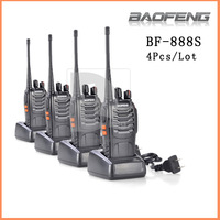 Hot 4psc BAOFENG BF-888S UHF 400-470MHz PC Programming Two Way Light 16CH 3W Radio Walkie Talkie 014981 Free Shipping