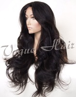 HOT SELLING fashion malaysian super wave 100% virgin human hair silk top lace front wig