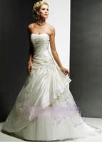 2015 new est women euro sexy mermaid embroidery draped strapless elegant wedding dress
