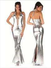 popular silver lycra dress