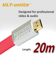 20m/65FT ult-unite 1.4v HDMI Flat Cable,24K Gold Plated HDMI cable for 3D Blu-ray DVD HDTV XBOX PS3 (100% Quality)