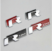 Vw 3d Stereo Sports Paragraph R R-Line Metal Car Stickers R In The Net Alias 6 CC Scirocco