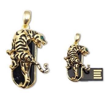 Wholesale Hot sale Fashion  4GB 8GB 16GB 32GB metal Tiger Model USB 2.0 Memory Flash Stick Pen Drive  D4