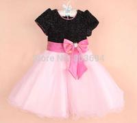 Wholesale Girl Dress with bow, Children Party Dress,princess dress,high-grade 6pcs/LOT  8965