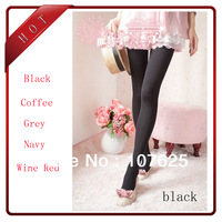 Fashion women's Velet Love Heart patterned  tights Leggings Pantyhose Slim Stockings spring and autumn Winter with free shipping
