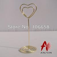 Free Shipping 15pcs Wedding Gift Wedding Seats Clip Creative Name Card Holder Gold
