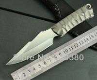 5pcs / lot SJ-K605 Knives Straight Knife Outdoor Survival Camping Hunting Tactical Knife Free aluminium fixed blade 0691#
