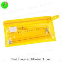 Customized pvc pouch with pencil,eraser,sharpener and ruler,LH-019