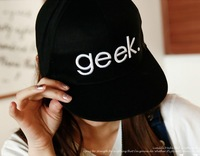 Free Shipping Hat female geek letter hip-hop cap hiphop hat sun-shading casual baseball cap