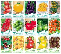 Free Shipping 15 KINDS 350+ TOMATO SEEDS Cherokee Purple Black Red Yellow Green Cherry Peach Pear Tomato Non-GMO Organic Food