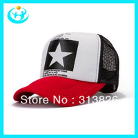 Free shipping 2013 Flag mesh cap color Ventilation baseball cap handgsome Hip-hop cap