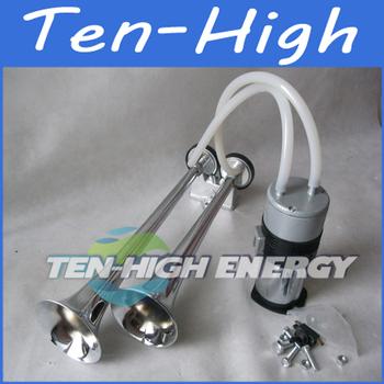 Fedex Freeshipping! 12V Dual Trumpet Car Air Horn Kit ,LOUD Easy To Fit Horns