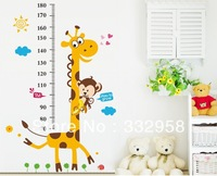 1.8m FREE SHIPPING Giraffe height wall stickers /kids wall stickers decorative painting background wallpaper wholesale