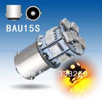1156 BAU15S PY21W 13 SMD 5050 Amber / Yellow Tail Turn Signal 13 LED Car Light Bulb Parking Car Light Source