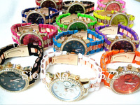 Free shipping by china post Hottest 2013 New Michael Plastic Watch with Diamond /12 colors stock
