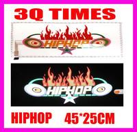 wholesale Genuine HIP-HOP style Sound Active flashing EL car Sticker 45*25 Size Car Music Rhythm Lamp free shipping