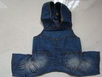 denim dog overalls for wholesale dog clothes