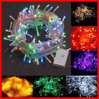 2014 multicolour Christmas lights decorative led string light 220v/110V 10M 100LED for Xmas Party Wedding tree 1pc Free Shipping