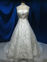 Free Shipping 2013 New Arrival Halter Embroidery Organza Custom order Full Size Long Sexy Ball Gown Wedding Dresses