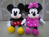 30cm mickey mouse & 30cm minnie mouse mickey doll kids toy one pair free shipping