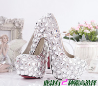 Romantic fashion white crystal bridal shoes wedding rhinestone women pumps high heels sapatos shoes ladies zapatos mujer