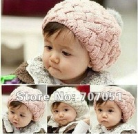 HANDMADE Cotton Crochet Hat Cap Beanie Baby Mixed style hot Toddler Girl hats /POP KID GIRL'S HAT CA+Free shipping