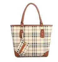 2013 new summer models fashion handbags shoulder portable big British wind plaid shopping bag free shipping B039