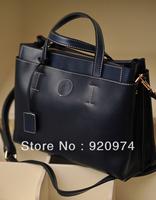 2013 women's handbag brief elegant vintage bag ol briefcase laptop bag cowhide handbag shoulder bag