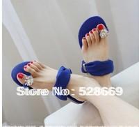 2014 New Summer Slippers Female Wedges Flip Slippers Flat Heel Platform Sandals Sparkling Diamond Platform Female Flip Flops