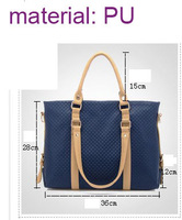 ALL MATCH PU LEATHER UTILITY SHOULDER BAG VINTAGE  TOTE MULTI-COMPARTMENT HANDBAG FREE SHIPPING