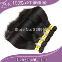 New arrival 12 14 16 18 20 22 24 26 28 30 inch natural color 4pcs lot peruvian straight virgin hair