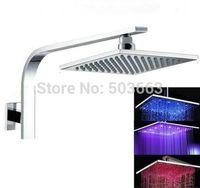 "10"" Rainfall Shower head+ Adjust Height Shower arm Shower  LED S-018 Shower Head"