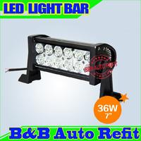 36W 7inch Offroad LED light Bar Combo Spot Flood beam 10-30V 36 Off-road LED Working Light Driving light Bar ATV SUV 4WD