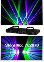 300mW Professional DMX Stage Lighting 4 Heads 4 Lens GP Sound Control DJ Laser Light Show Beam Fast Ship