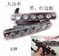 New 2 pcs White 5 LED Daytime Running Light DRL Car Fog DRL Lamp Clear Lens free shipping