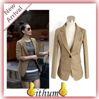 New 2014 Women blazer version slim Jackets women white blazer medium-long suits for women clothing Plus size XXXL