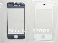Wholesale -100pcs  For iPhone5 Front Outer Glass Lens Touch Screen Cover for iphone 5 repair parts black white DHL free shipping