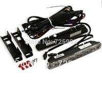 2pcs/lot New update High power Multifunction 12W 6 LED Daytime Running Light Full aluminum 12V- 24V DRL