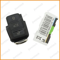 free shipping 3 buttons remote key fob case for vw car