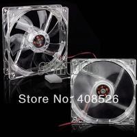 Wholesale 10pcs=5pairs 120mm Fans 4 LED Blue for Computer PC Case Fans Cooling Transparent 11991