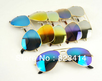 2013 Super Cool Men Women Colorful Sunglasses Driving Aviator Sun Glasses +Bag+Cords Free Shipping  C-S008