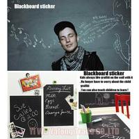 2014 hot sale 60x200CM Removable Blackboard Sticker Vinyl Chalkboard Wall Sticker free shipping