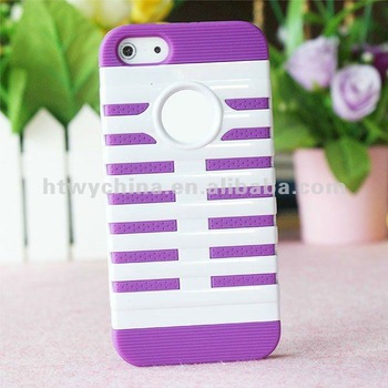 20pcs X Free shipping 2 colors Cell Phone Case for iPhone5 5G 5S Silicone PC Cover Case,14colors available