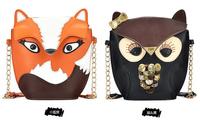 FF Fly bag 2013 summer cartoon vintage fox bag owl chain bag messenger bag Women Handbag