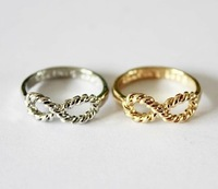 Factory Wholesale! Freeshipping fashion Jewelry vintage cool infinity simple style ring  100pcs/lot