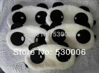 3pcs/Lot Soft Lint Lovely Panda Face Blindfold Eyepatch  Eye Mask,Sleeping Cover Eye Shade Blinder for Airplanes Travel Rest