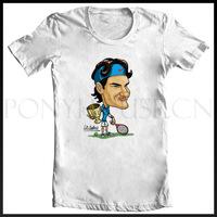 TENNIS RF Roger Federer Q logo ATP T-SHIRT T-shirt cotton Lycra top new arrival Fashion Brand t shirt for men 2013 summer