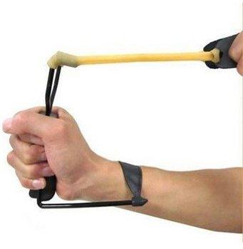 Wonderful Catapult 100pcs/lot Powerful Folding Wrist Sling Shot Slingshot Outdoor Hunting High Velocity Brace